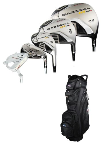 New Tour Edge Golf HT-MAX D Complete Set With Cart Bag Graphite/Steel Uniflex