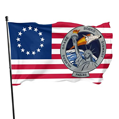 anemone store Amerikanische Fly Breeze 3x5 Fuß Flagge - STS 51 J Mission Patch