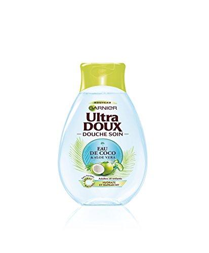 Garnier Ultra DOUX Douche Soin Hydratante/Rafraîchissante Eau de Coco/Aloe Vera