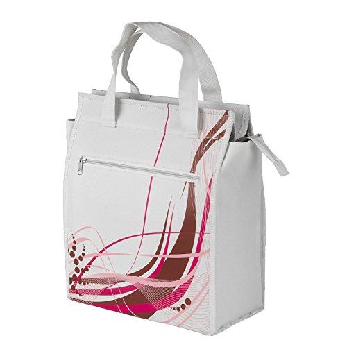 M-Wave Seitentasche, Gepäckträgertasche Amsterdam Style, White Fancy