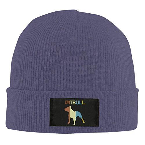 XCNGG Gorro Jersey de Lana Unisex Unisex Pitbull Vintage Knitted Hat, 100% Acrylic Fashion Skiing Cap