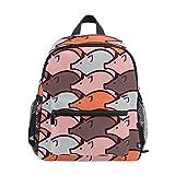 Pig Animal Mochila escolar Multi Lindo Libros, para niños y niñas, mochila de viaje para niños de 3 a 8 años de edad preescolar