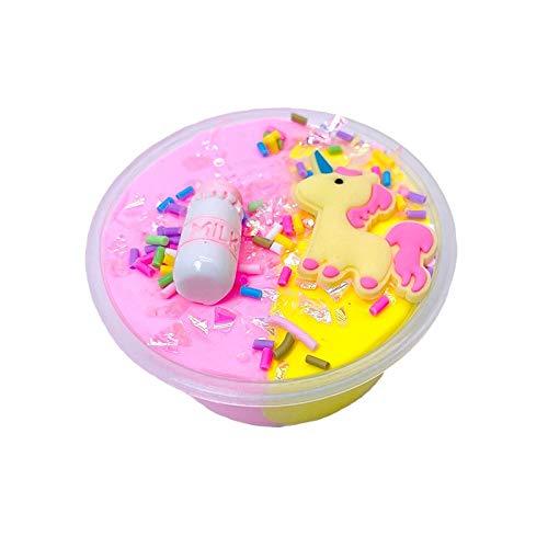 ZUJIFA 60 ml de Polvo Unicornio 泥 Arcilla plástica Arcilla Ligera Colorido Modelado polimer Arcilla Arena Arena esponjosa Ligera plastilina Juguetes Mano