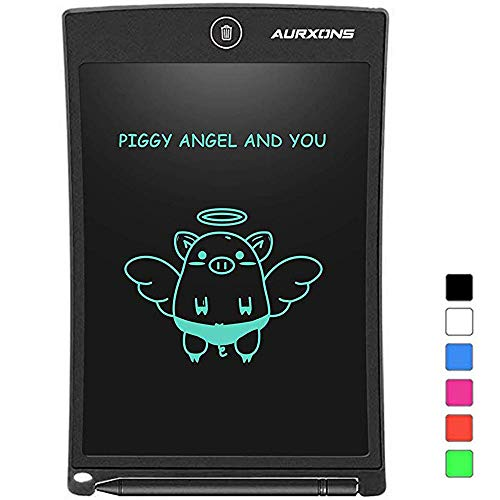 AURXONS LCD Writing Tablet Electronic Writing Drawing Doodle Board Erasable 8.5-Inch...