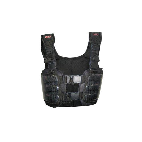 K1 Race Gear 70023018 Black Medium Carbon Fiber Racing Rib Vest