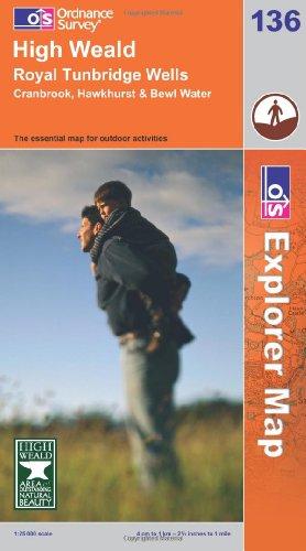 OS Explorer map 136 : High Weald