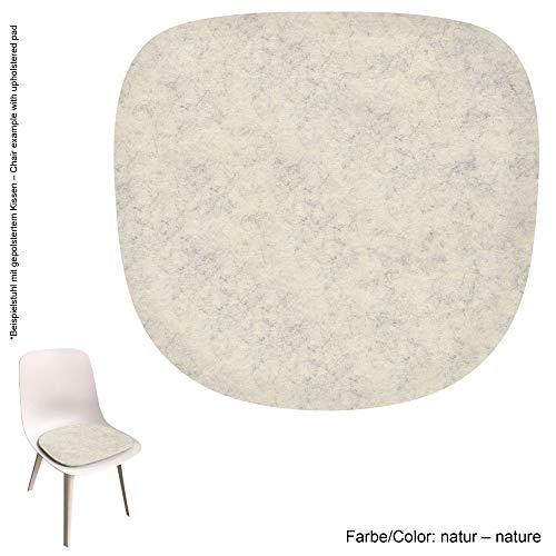 Feltd. Eco Filz Auflage 4mm Simple - geeignet für IKEA Odger // - 29 Farben inkl. Antirutschunterlage (Natur)