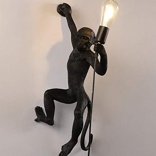 Wandlamp aap moderne wandlamp van kunsthars links en rechts open haard bedlampje gemaakt van creatief witgoud