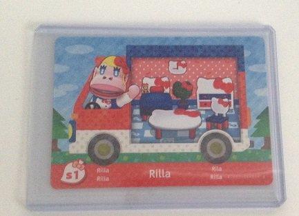 Rilla - S1 - ENGLISH VERSION - Nintendo Animal Crossing New Leaf Sanrio amiibo Card