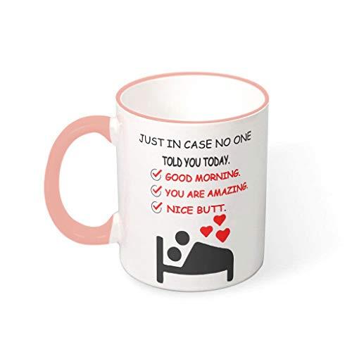 Taza Nice Butt of You de cerámica de alta calidad, divertida taza de San Valentín Chanukka, regalo Vcbe 330 ml