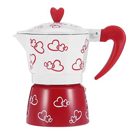Moka Pot, Aluminium Durable Moka Pot Abnehmbare Küchenkaffeemaschine für Home Coffee Bar(L)