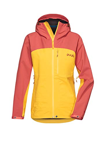 PYUA Damen Gorge Jacke, Dark Rose-Pumkin Yellow