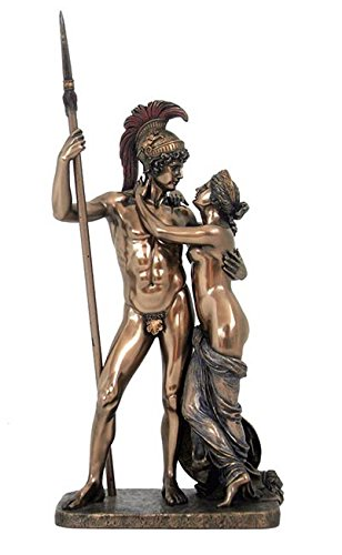 Statua Marte e Venere di Antonio Canova in Resina bronzata Altezza cm. 38, Made in Italy.