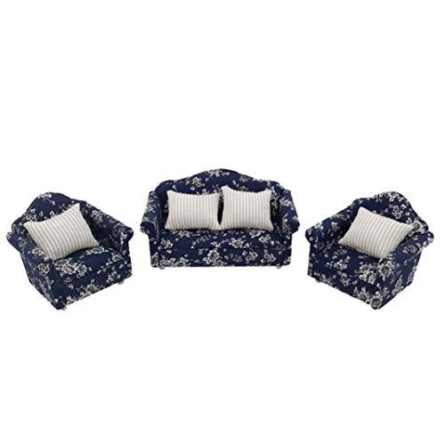 Eamoney 1:12 Miniature:Sofa Cushion Set Mini Dollhouses Accessory DIY Dollhouse Dcor Toy House Model Kids Toy