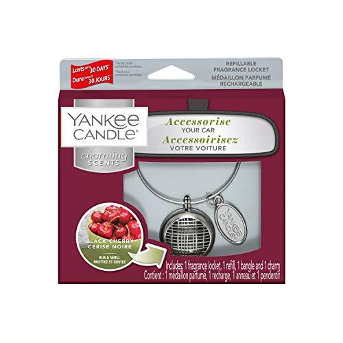 YANKEE CANDLE Cherry Starter Kit Linea Profumatore per Auto, Multicolore, Unica