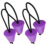 LoneRobe Pack of 4 Universal Silicone Kayak Scupper Plug Kit - Kayak Canoe Drain Holes Stopper Bung Replacement Part for All Major Brands (Purple)
