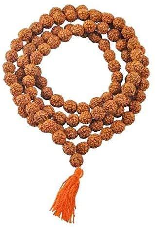 GS & Co Nepali Rudraksha Mala with Certificate for Wearing and Japa Mala (5 Mukhi Mala, 108 Beads Mala)