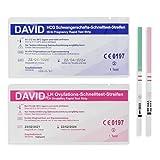 David 30x Ovulations-Test & 5x Schwangerschafts-Test - Teststreifen zur Babyplanung - Urintest bei Kinderwunsch - Pregnancy - Schnelltest - 10 miu/ml
