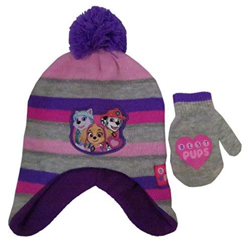 Paw Patrol Girls Winter Hat and Gloves Set Standard