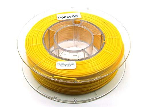 POPESQ® 330 g x Premium Filamento 3D Impresora Pet-G 1.75mm Amarillo / 330 g x Premium Filamento 3D Impresora Pet-G 1.75mm Amarillo #A2375