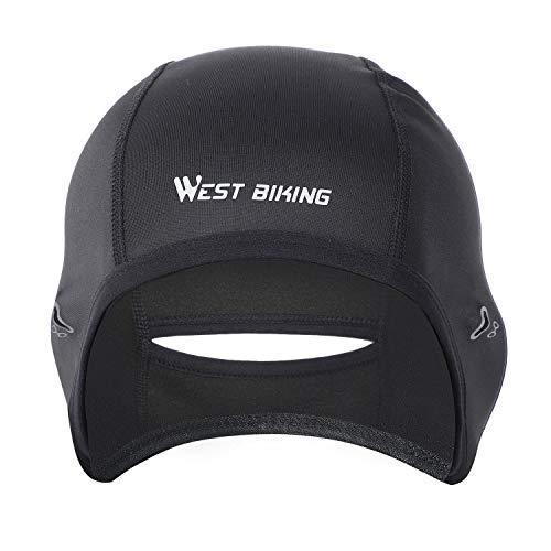 WESTGIRL Fahrrad Mütze, Helm-Unterziehmütze für Herren Damen, Warm WinddichteWintermütze, Sportmütze Kopfwärmer für Laufen Radfahren Skifahren Snowboarden Motorradfahren