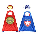 Superhero Capes for Kids Toys for 3-9 Year Old Boys Gifts Kids Dress up Super Hero Costumes(2 pc)