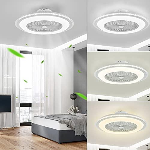 NIKEEYEN Ventiladores para el techo con lámpara