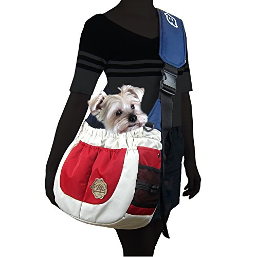 Alfie Pet - Hayden Pet Sling Carrier - Color: Red, White & Blue