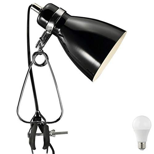 Nordlux Klemmleuchte Retroleuchte weiß/schwarz incl. 4W LED Klemmspot Vintage Retro Industrieleuchte Metal (Schwarz)