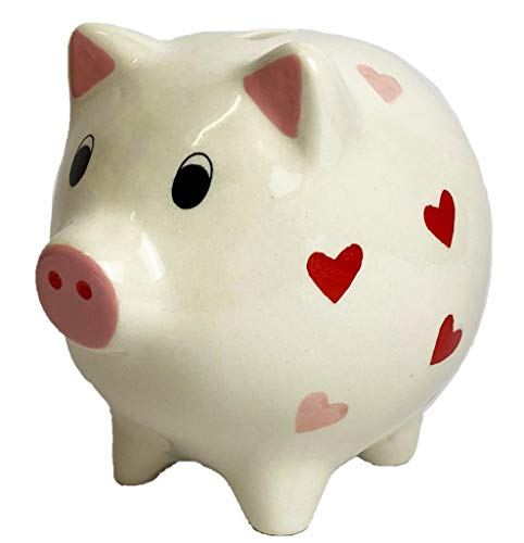 Windhorse Love Hearts Keramik Sparschwein/Sparbüchse - 13cm