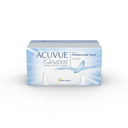 ACUVUE OASYS Kontaktlinsen – 2-Wochen-Linsen für Tag und Nacht mit -5,75 dpt und BC 8.8 – UV Schutz, Austrocknungsschutz & extrem hoher Tragekomfort – 24 Linsen