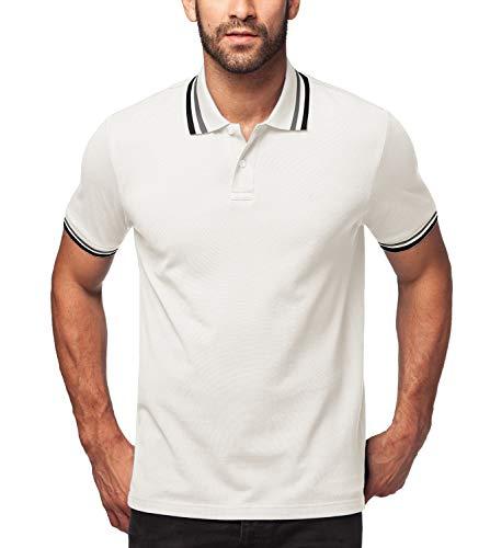 polo uomo in cotone LAPASA Uomo Polo in 100% Cotone Manica Corta T-Shirt Classic Fit Magliette M19