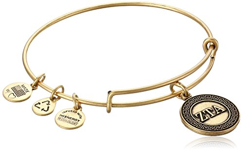 Alex and Ani 'Sorority' Zeta Tau Alpha Expandable Rafaelian Gold-Tone Wire Bangle Bracelet