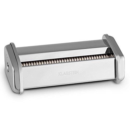 Klarstein Siena Zubehörteil Zubehör-Aufsatz Siena Pasta Nudel Maker Nudelmaschine (Edelstahl, 2mm Nudel-u. Pasta-Aufsatz) Silber