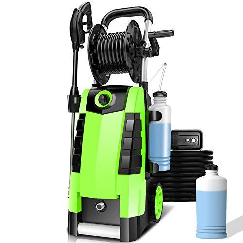 TEANDE Pressure Washer , TEANDE 3800PSI Pressure Washer, Electric Pressure Washer, Power Washer 2.8GPM High Pressure Power Washer 1800W Machine for Cars Fences Patios Garden Cleaning Hose Reel