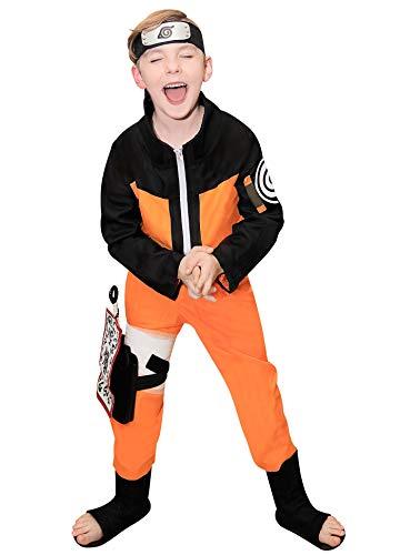 DAZCOS Kids US Size Uzumaki Childhood Cosplay Costume for Comic Con (Small)