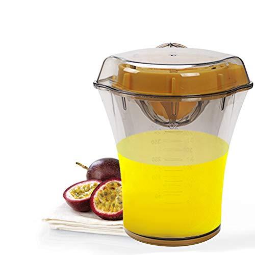 Bestevery Exprimidor manual Citrus Lemon Squeezer con vaso medidor integrado y recipiente para el hogar y la cocina