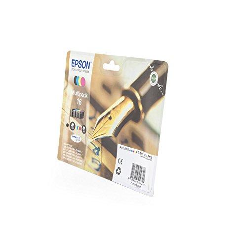 1x Original Multipack für Epson Workforce WF-2510WF, C13T16264010 - BK, Cy, Ma, Ye -