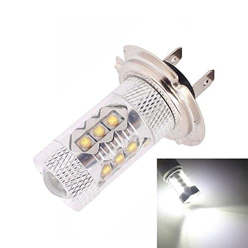 Luoshan H7 80W 6500K 800LM luz Blanca 16-3535-LED Car Foglight, Corriente Constante, DC12-24V (luz Blanca)