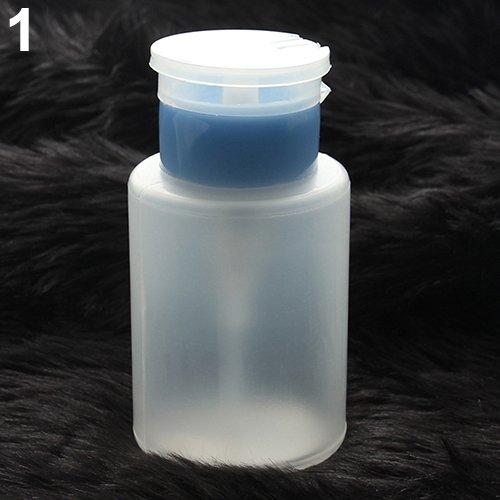 Mode Nail Art pour filles 150 ml Nail Art Remover Gel UV Nettoyant Pompe Distributeur de Vernis Vide Bouteille Rose