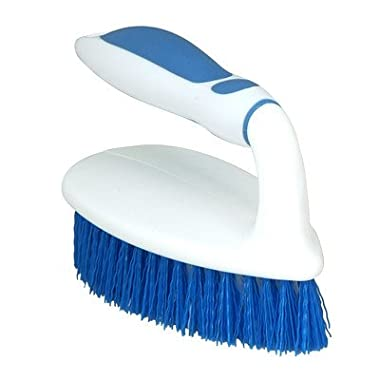 Superio Brand Scrubbing Brush with Rubber Grip Handle