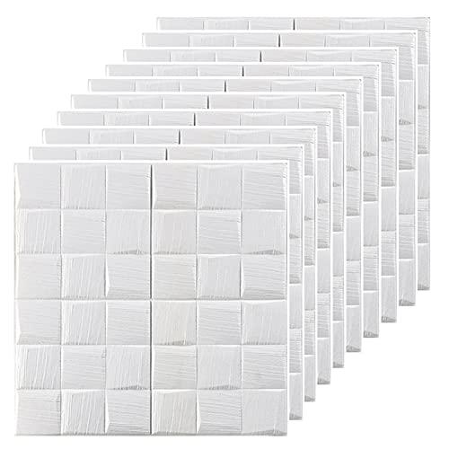 PE de Espuma 3D Wallpaper, Papel De Pared 3d Decorativos Adhesivos para Azulejos Pegatina de Pared, Diseño de Ladrillo, Efecto 3D, para Baño y Cocina Salón dormitorio Murales Decorativos Pared(Colo