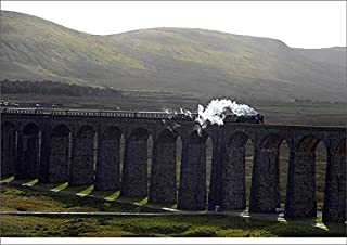 Media Storehouse A2 Poster of The Tornado Steam Locomotive Crosses Ribblehead Viaduct in Northern England (19598768)