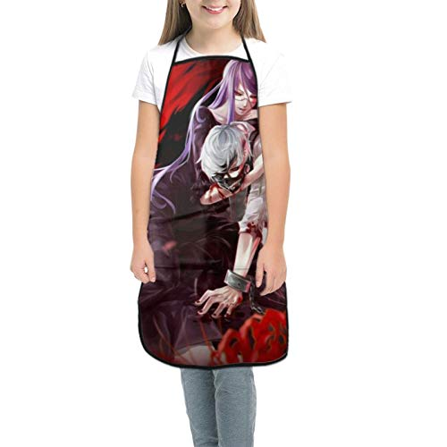 TGSCBN Tokyo Ghoul Anime Girls Cook Aprons with Pockets for Restaurant Professional Waiters & Chefs Cooks