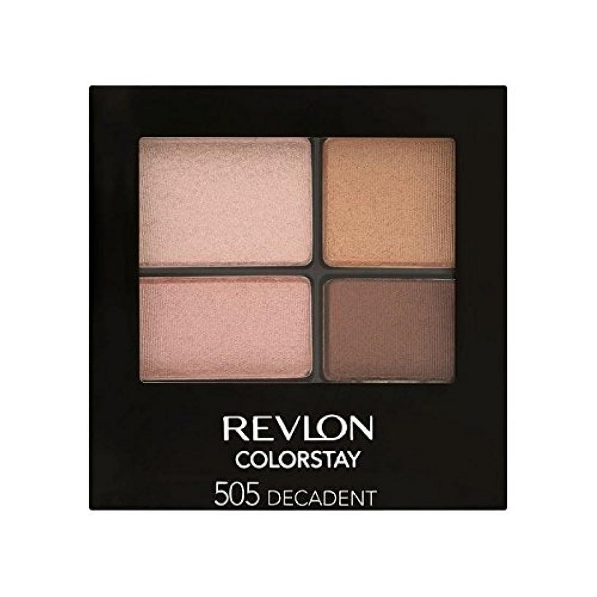 アメリカ横向きゆるくレブロン 16時間のアイシャドウ退廃505 x4 - Revlon Colorstay 16 Hour Eye Shadow Decadent 505 (Pack of 4) [並行輸入品]