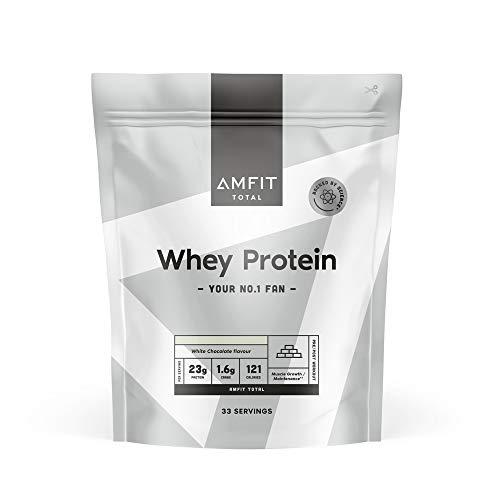 Marchio Amazon - Amfit Nutrition Proteine del Siero del Latte, Gusto Cioccolato Bianco, 1kg