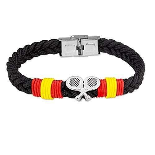 Stainless Steel Bracelet. Rodiado Collection Soul Albero 21cm. Spain Paddle Blades Flag Rope Braid