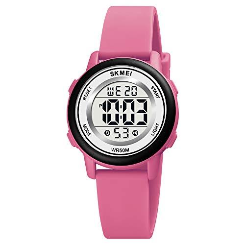 Orologio per bambini, Luckits LED Orologi per ragazze con cronometro di allarme, Orologio da polso per bambini impermeabile da 50 M Orologi sportivi digitali per bambini per bambini Ragazzi ragazze