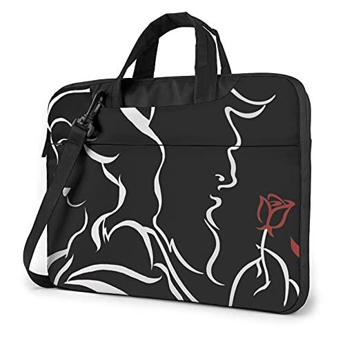 Beauty Within The Beast Laptop Shoulder Messenger Bag Shockproof Laptop Sleeve Case Notebook Briefcase Business Handbag 15.6 Inch