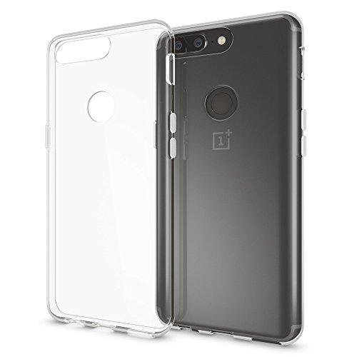 NALIA Handyhülle kompatibel mit OnePlus 5T, Ultra-Slim TPU Silikon Hülle Cover Crystal Clear Schutzhülle Dünn Durchsichtig, Etui Hülle Handy-Tasche Backcover Transparent Rückseite, Smartphone Bumper